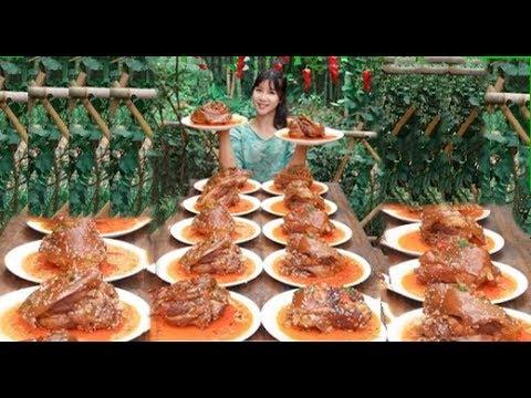 大胃王,全村第一吃貨消滅30斤醬肘子