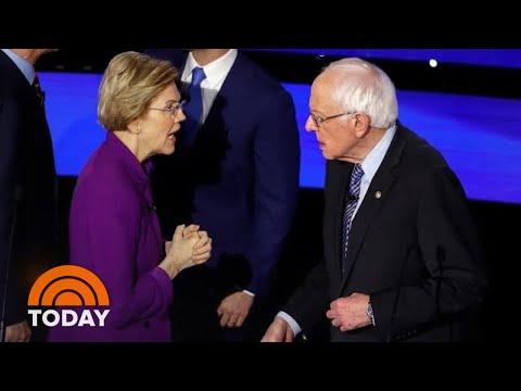 Warren Appears To Refuse Handshake From Sanders After Democratic Debate   TODAY