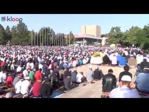 Праздничный Айт намаз в Бишкеке. Ait namaz in Bishkek