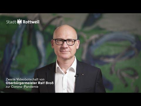 Zweite Videobotschaft von Oberbürgermeister Ralf Broß zur Corona-Pandemie