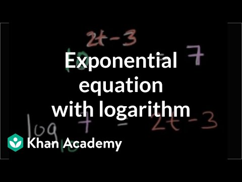 Solving exponential equations using logarithms: base-10 (video ...