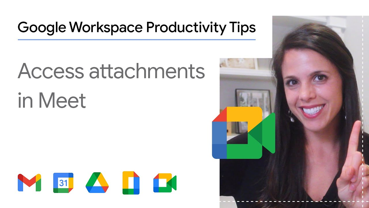 Ever been in a Google Meet virtual meeting and needed to access the agenda? In this episode of Google Workspace Productivity Tips, we show you how to access Google Calendar attachments in Meet in one easy step!