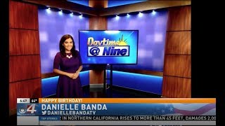KGBT-TV CBS 4 News Rio Grande Valley | LIVE On-Air Birthday Mention for TV Host Danielle Banda