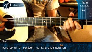"Cómo tocar ""Clandestino"" de Manu Chao en Guitarra Acústica (HD) Tutorial - Christianvib"