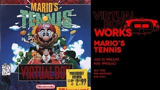 Mario's Tennis retrospective: Doubles vision | Virtual Boy Works #01