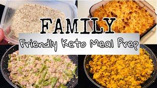 Healthy Family Friendly Keto Meal Prep| Green Bean Casserole Chicken Parmesan Casserole
