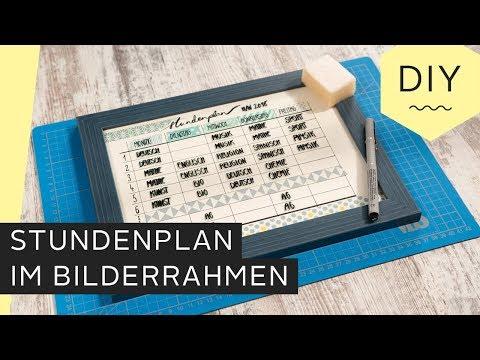 DIY: Stundenplan im Bilderrahmen fürs Kinderzimmer   Roombeez – powered by OTTO