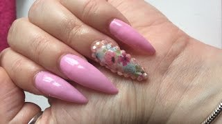 A New Set Of Acrylic Nails Along With A Jamberry Wrap Review