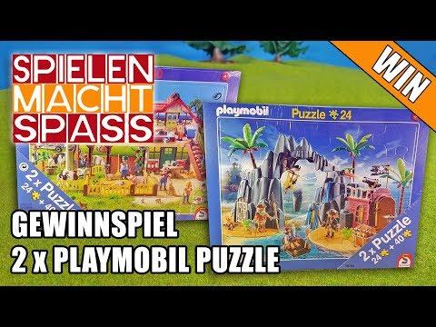 BEENDET: Gewinnspiel 14 🐴 2x PLAYMOBIL PUZZLE 🐒 Bauernhof 🌟 Piraten Spielzeug gewinnen Verlosung