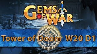 ⚔️ Gems of War Tower of Doom | Week 20 Day 1 | Brown Tower of Doom and 4.9 Spoilers SOON TM⚔️