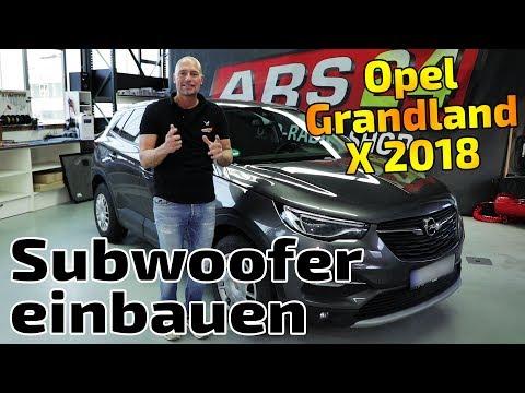 Opel Grandland X 2018 bekommt Aktiv-Subwoofer Audison APBX 10 AS