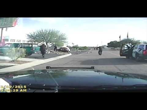 Cops use an unconventional method to take down a suspect.