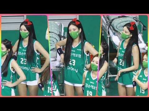 [4K] 치어리더 원민주 직캠 (cheerleader) - 3/4쿼터 응원 모음 @남자농구(원주DB)/210…