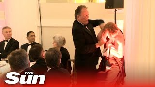 Tory Mp Grabs Greenpeace Activist By Her Neck   Mark Field Mp