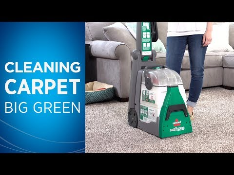 how to use the bissell big green machine carpet cleaner