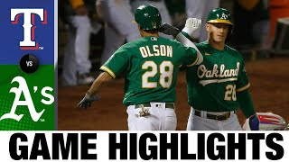 A's belt four homers in 6-4 comeback win | Rangers-A's Game Highlights 8/5/20