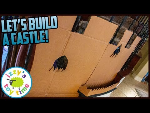 Download CARDBOARD STAIR CASTLE! Building With Izzy's Toy Time! HD Mp4 3GP Video and MP3