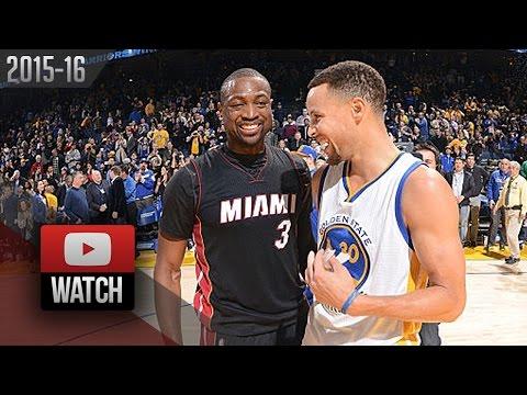 ba2e5051c2f SICK Stephen Curry vs Dwyane Wade DUEL Highlights (2016.01.11) Warriors vs  Heat