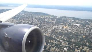 Seattle to Tokyo United Airlines Flight #875 Takeoff