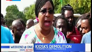 Traders counting losses after kiosks were demolished in Malindi