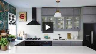 Interior Design —Dramatic, Boldly Decorated Family Ikea Kitchen Makeover