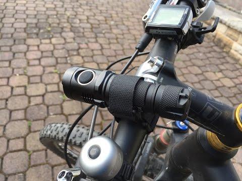 Nitecore MH20 die bessere Fahrradlampe