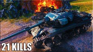 21 ФРАГ ЛИНИЯ ФРОНТА 🌟 World of Tanks Centurion Mk. 5/1 RAAC лучший бой