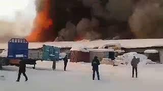 Новое видео пожар на Базе АТП в Усть-Куте