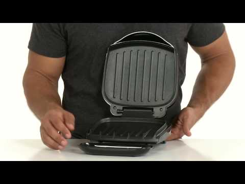 , George Foreman 2-Serving Classic Plate Electric Grill and Panini Press, Black, GR136B