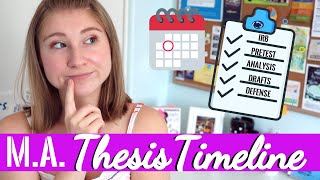 MASTER'S THESIS WRITING TIMELINE! MY EXPERIENCE @ PENN STATE