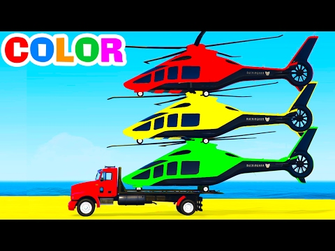 Hình ảnh Youtube -  FUN HELICOPTER on Truck & Cars Spiderman Cartoon for Children & Colors for Kids w Nursery Rhymes