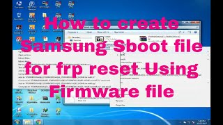 How To Make Sboot File/Change Sboot File Bin To Tar File Guide For