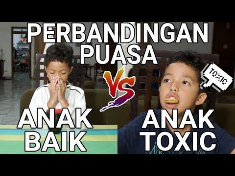 PERBANDINGAN PUASA ANAK BAIK VS ANAK TOXIC