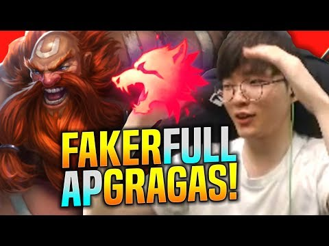 FAKER BACK WITH THE FULL AP GRAGAS MID! - SKT T1 Faker Plays Gragas vs Lucian Mid! | T1 Faker SoloQ