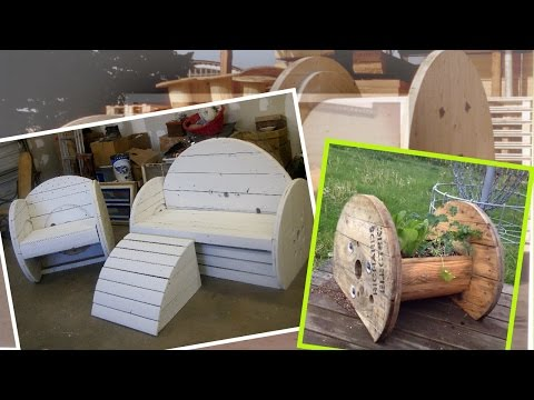 0 Repurpose Giant Wooden Cable Spools