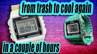 Restoration of watches casio w-215h:::::::Project in quarantine
