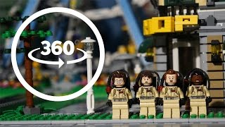 LEGO Ghostbusters Protect Lego City VR 360 Part 2 Funny Stop Motion Animation