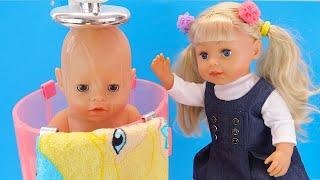 СТРОГАЯ СЕСТРА ЗАСТАВИЛА МЫТЬСЯ #Кукла #Бебибон Мальчик Девочка Играем Как Мама