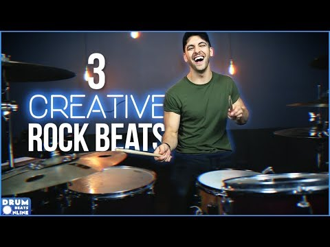 3 Creative Rock Beats That HIT HARD! - Beginner Drum Lesson | Drum Beats Online