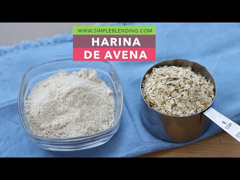 HARINA DE AVENA CASERA   Cómo hacer harina de avena en casa   Avena molida