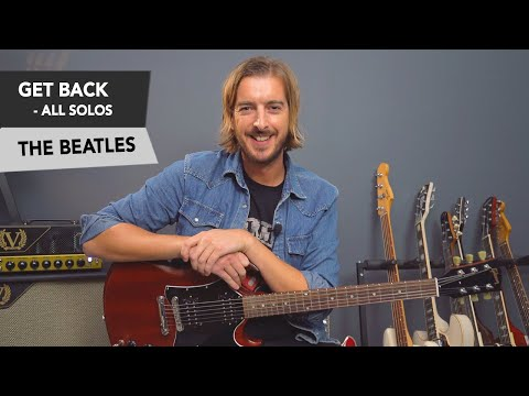 The Beatles - Get Back Guitar Lesson Tutorial // Rhythm + Lead Solos!