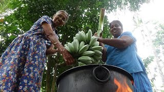 Ash Plantain (Cooking Banana) Cutlets prepared by Grandma and Daughter ❤ Village Life