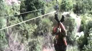 preview picture of video 'Daring Zip-Line experience for a first timer.'