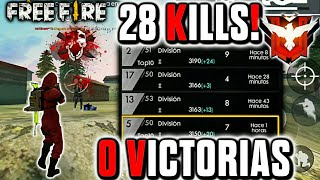 ASÍ REALICÉ MUCHAS KILLS EN SOLO CLASIFICATORIA PERO CON (0 VICTORIAS) ¡MI MALA SUERTE! •FREE FIRE•