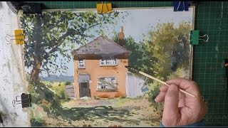 Watercolour Step by Step Abandoned Cottage Studio Version