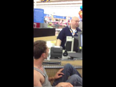 Buying an iPad in a shopping cart at Walmart