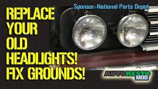 Fix Classic Car Headlight Ground Issues Episode 201 Autorestomod