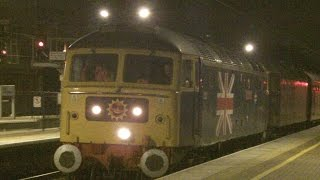 preview picture of video 'Half an Hour at (74) - Wigan North Western WCML 13.11.2014 - Class 47 56 66 142 156 390 inc WCRC ECS'