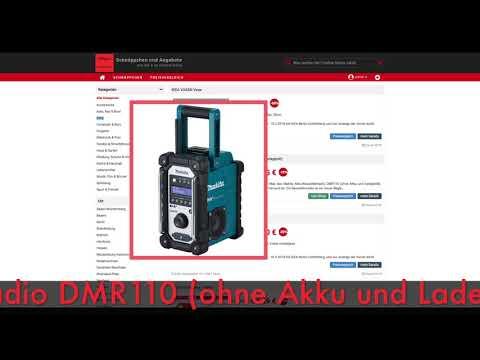 Schnäppchen des Tages 16.04.18 - Makita Akku-Baustellenradio DMR110 (ohne Akku und Ladegerät)