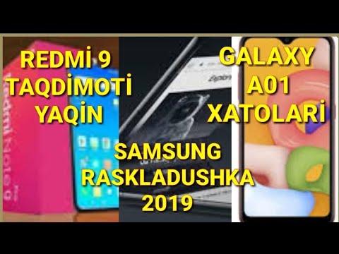 REDMI 9 TAQDIMOTI HAQIDA/SAMSUNGNING RASKLADUSHKA SMARTFONI/GALAXY A01 DAGI XATOLAR TO'G'IRLANDI!!